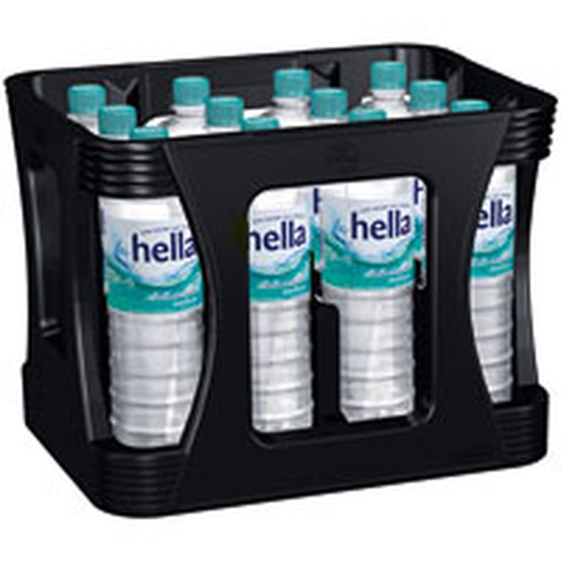 Hella Mineralwasser Medium (PET) 12x1,0l-Kiste