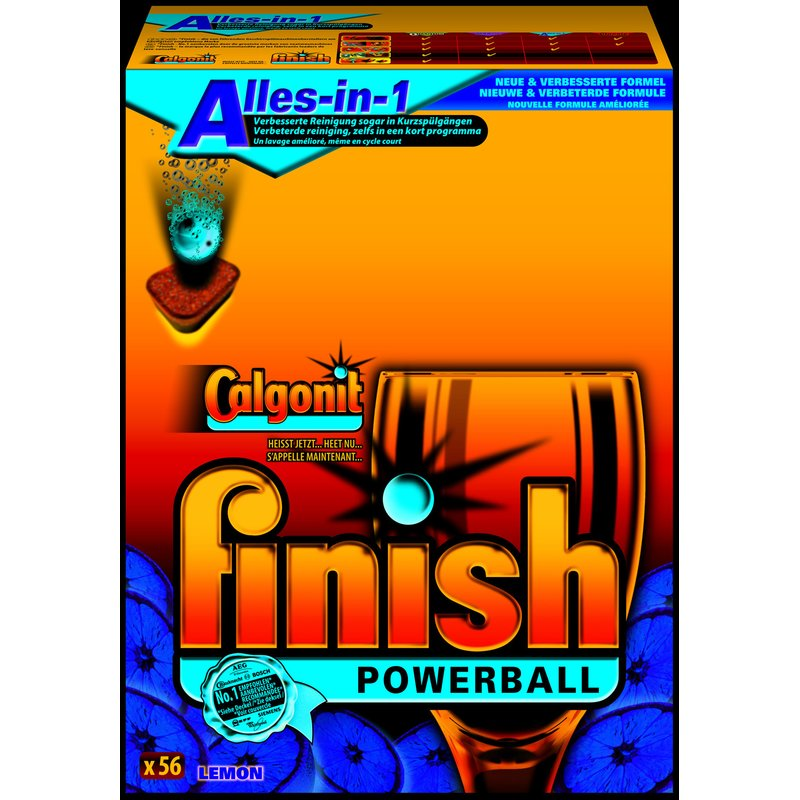 Finish Calgonit Powerball Alles-in-1 Sparpack (Lemon)