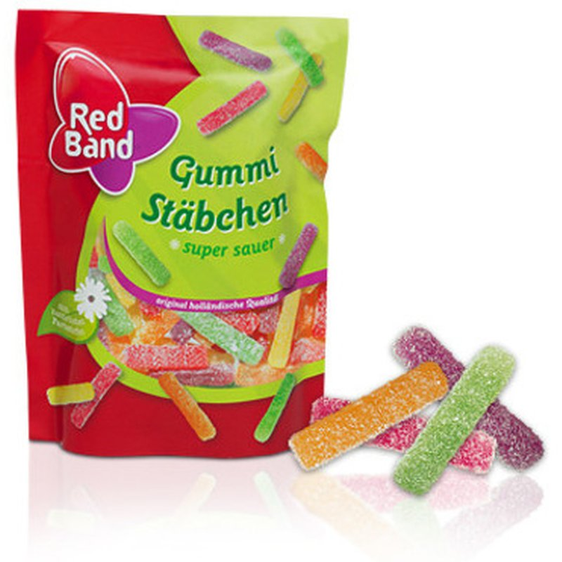 Red Band Gummi Stäbchen super sauer