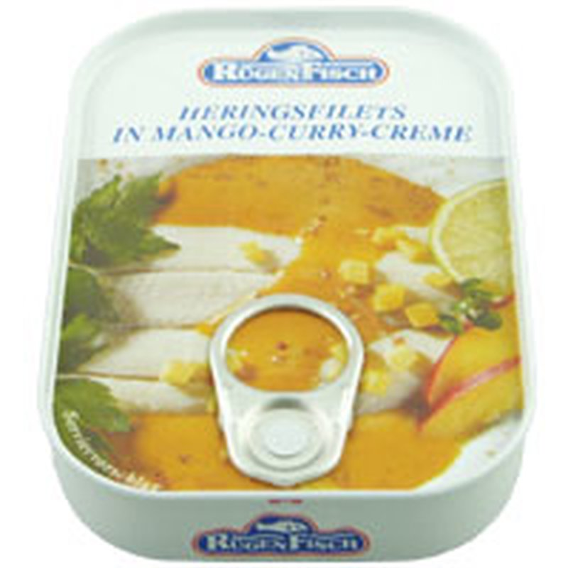 Rügenfisch Heringsfilets Mango Curry Creme